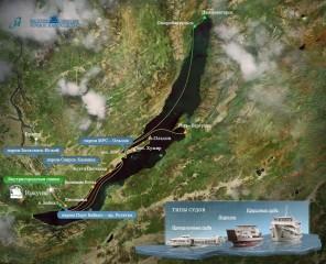 Маршруты следования судов по по Байкалу